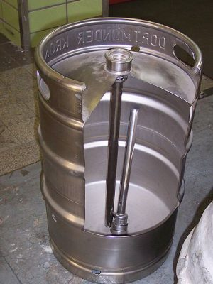 חבית בירה מבפנים